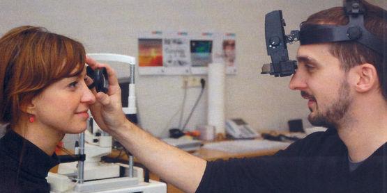 Indirekte Ophthalmoskopie im Modul Diagnostische Verfahren
