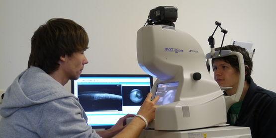 OCT-Untersuchung im Modul Diagnostische Verfahren
