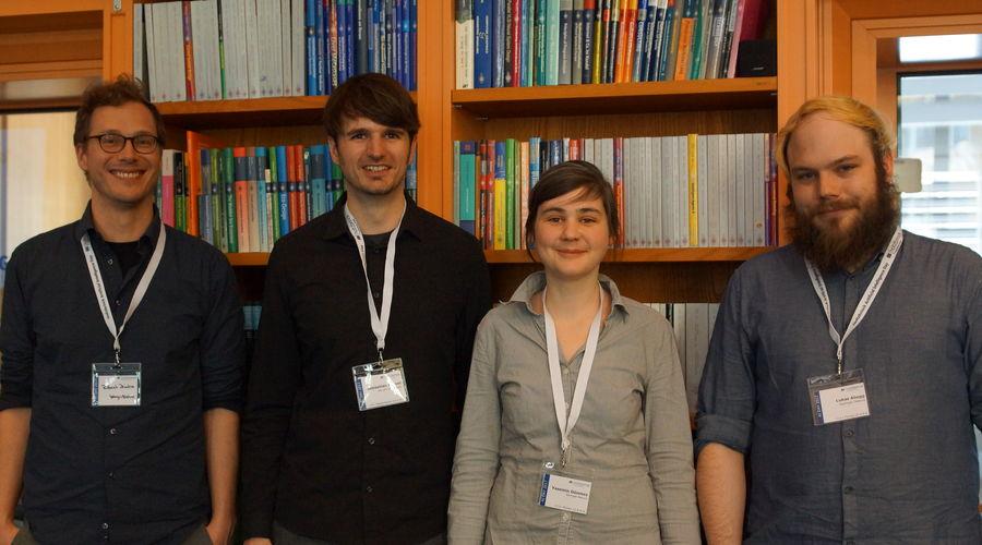 Robert Dziuba, Sebastian Arnold, Yasemin Dönmez und Lukas Abegg at Holtzbrinck AI Day