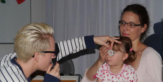 Skiaskopie im Modul Klinische Optometrie